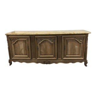 French Regency Marble Top Enfilade