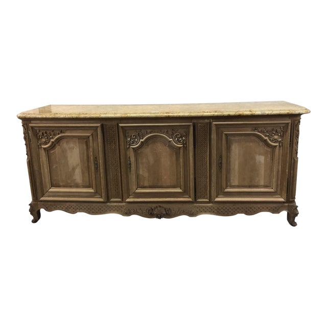 French Regency Marble Top Enfilade For Sale