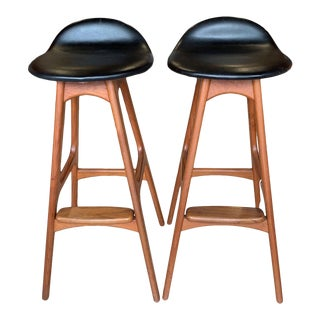 Eric Buch Danish Modern Stools - A Pair For Sale