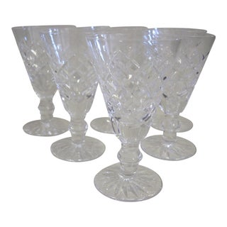 1980s Vintage Waterford Crystal Sherry Port Glasses - Set of 6 For Sale