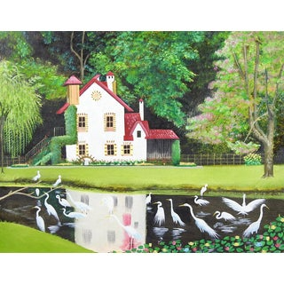 Fairy Tale Cottage Painting For Sale