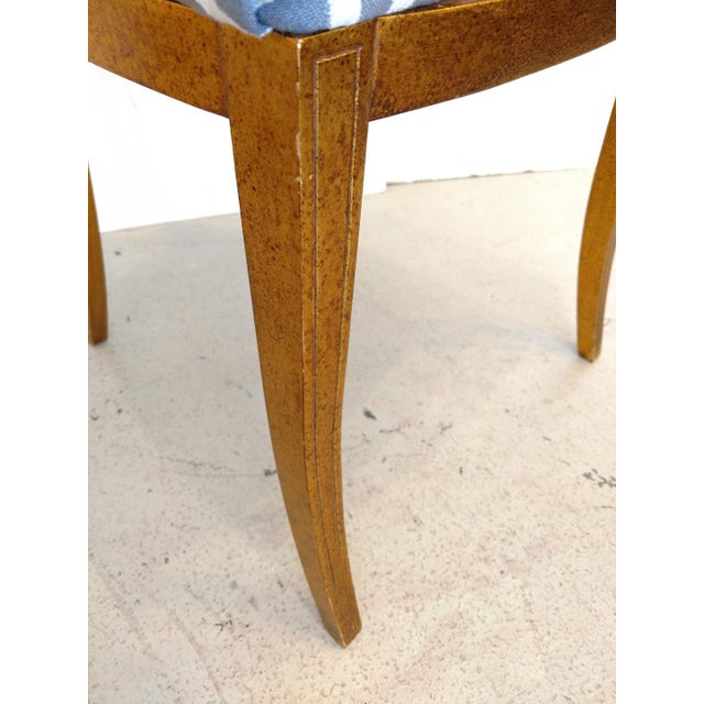 1960's Cathedral Arch-Backed Side Chairs, Gold-Leafed/ Shell Inlaid, a Pair For Sale - Image 11 of 12