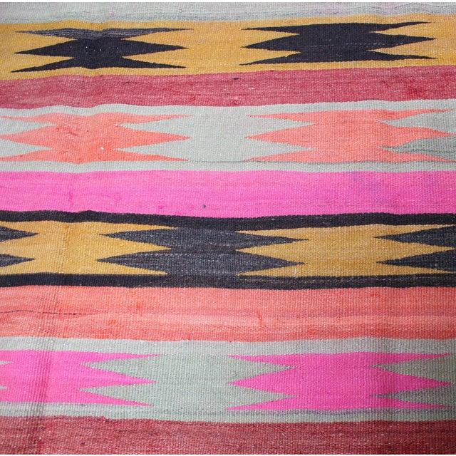 "Boho Chic Vintage Anatolian Kilim Rug - 5'9"" x 8'9"" For Sale - Image 3 of 3"