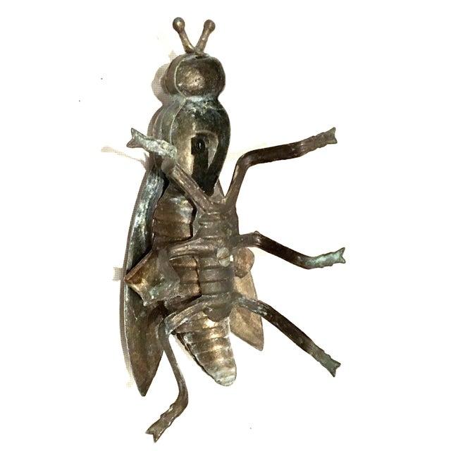 Mid-20th Century Art Nouveau Iron & Brass Figural Fly & Shrimp Sculpture-a Pair For Sale - Image 11 of 13