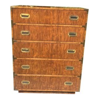 Dixie Furniture Mid-Century Campaign High Boy Dresser