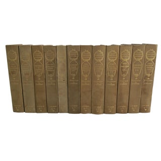 William Marketplace Thackeray j.m Dent Co. Gold Hardcover Book Collection Set of 12 For Sale