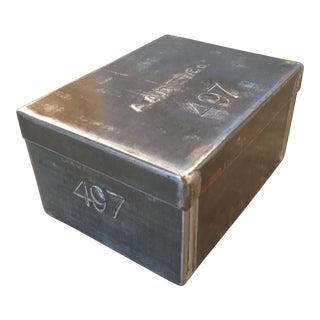 45 Piece Set - 1930's Industrial Metal Tea Box For Sale