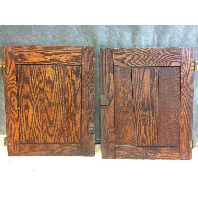 (2) Vintage Wood Cabinet Doors. Pair of matching paneled cabinet/cupboard doors. Nice original wood tones. Each measures...