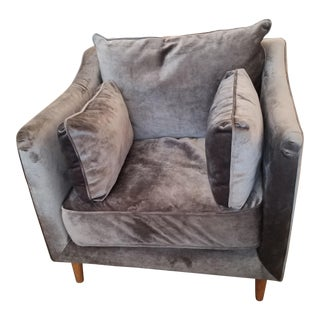 Interior Define Caitlin Armchair in Narwhal Gray