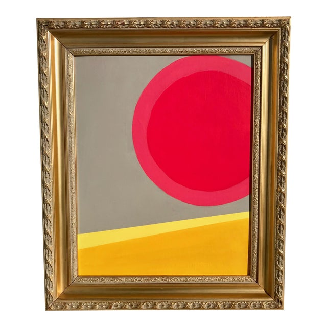 """Sun Meets The Desert"" Abstract Modern Painting - Image 1 of 4"
