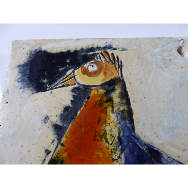 1950s Swiss Modern Pottery Wall Plaques by Philippe Lambercy - Set of 3 For Sale - Image 12 of 13