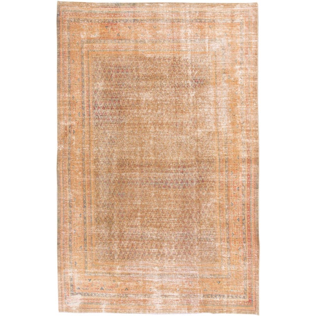 """1910s Traditional Apadana-Antique Persian Distressed Rug - 6'8"""" X 10'5"""" For Sale - Image 10 of 10"""
