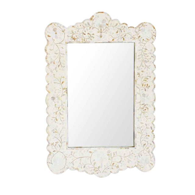 Mother of Pearl & Bone Mirror - Image 1 of 2