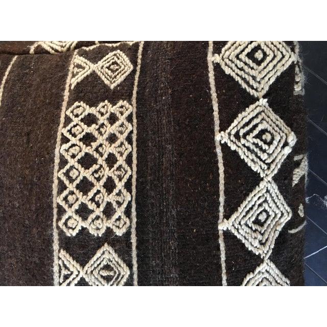 Moroccan Boho Chic Floor Pouf - Image 3 of 4