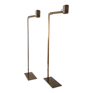 Minimalist Chantecaille Floor Lamps by Christian Liaigre - a Pair For Sale