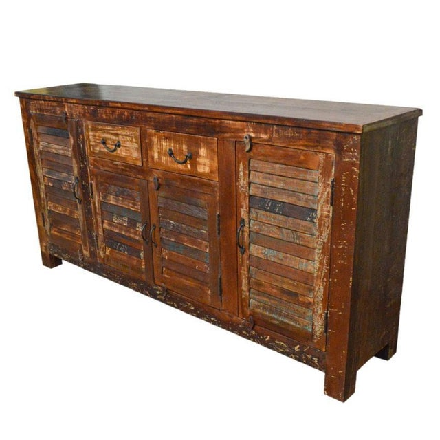 This piece of sideboard / buffet table is crafted for a modern and industrial themed purpose. Make your home standout with...