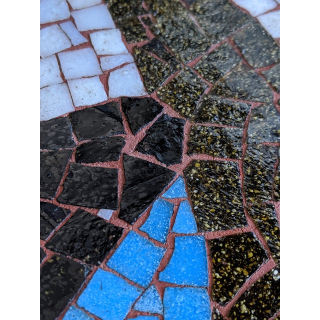 Artisan Midcentury Modern Mosaic Table For Sale - Image 12 of 13