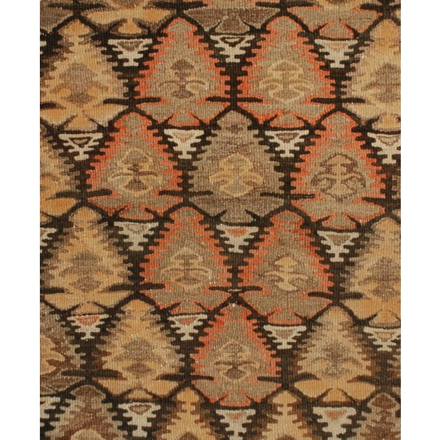 1920s Early 20th Century Qazvin Kilim Runner - 3′10″ × 11′4″ For Sale - Image 5 of 5