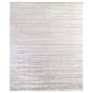 Exquisite Rugs Creil Hand loom Bamboo/Silk Ivory Rug-8'x10' For Sale