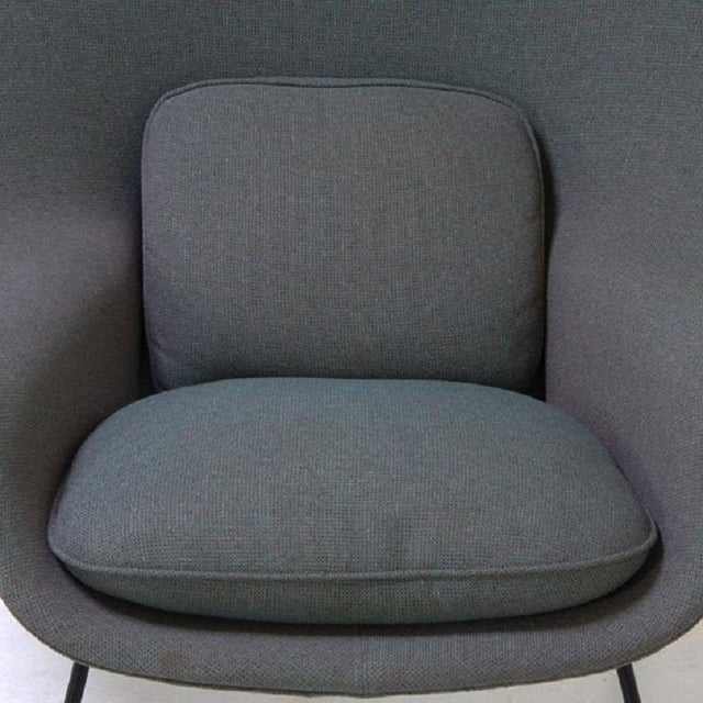 Mid-Century Modern Womb Chair and Ottoman by Eeron Saarinen for Knoll For Sale - Image 3 of 5