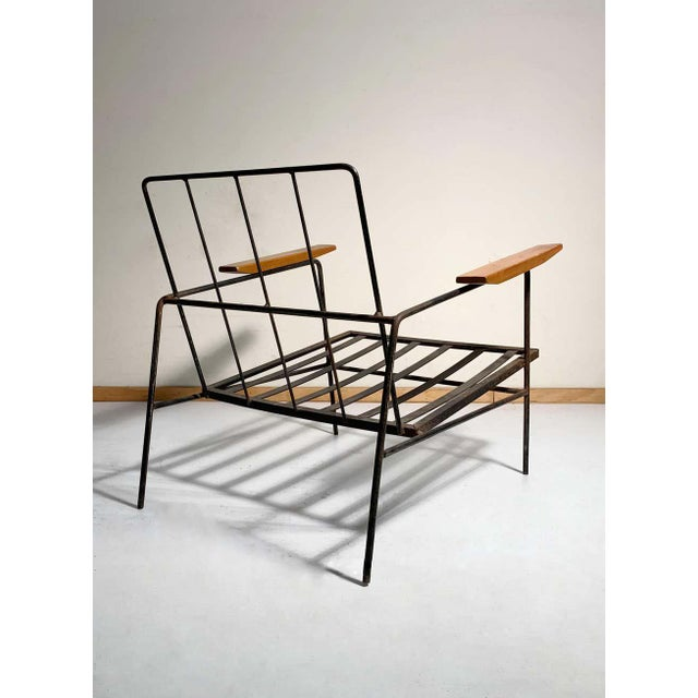 Milo Baughman Vintage Modern Richard McCarthy Lounge Chair Frames- a Pair For Sale - Image 4 of 7