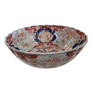 """Antique Japanese Imari Bowl 10"""" X 4"""" For Sale"""