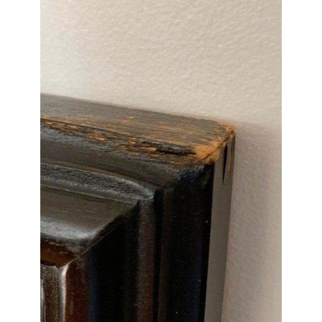 Black FInal Markdown Large James Mont Style Large Carved Greek Key Wood Mirror For Sale - Image 8 of 10