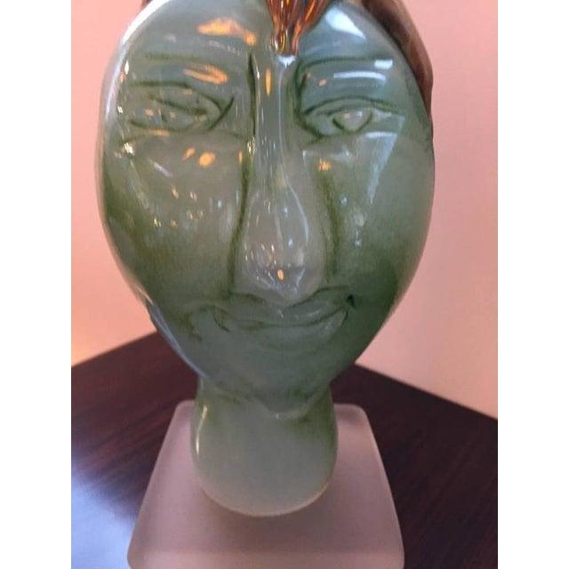 "Handblown Glass Tree Head ""Summer"" Sculpture - Image 5 of 10"