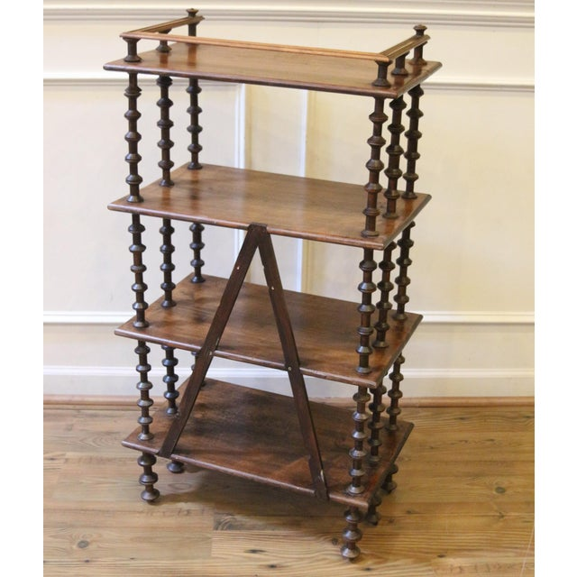 Late 19th Century. Antique Rustic Folk Art Wooden Spool Shelves For Sale - Image 9 of 13