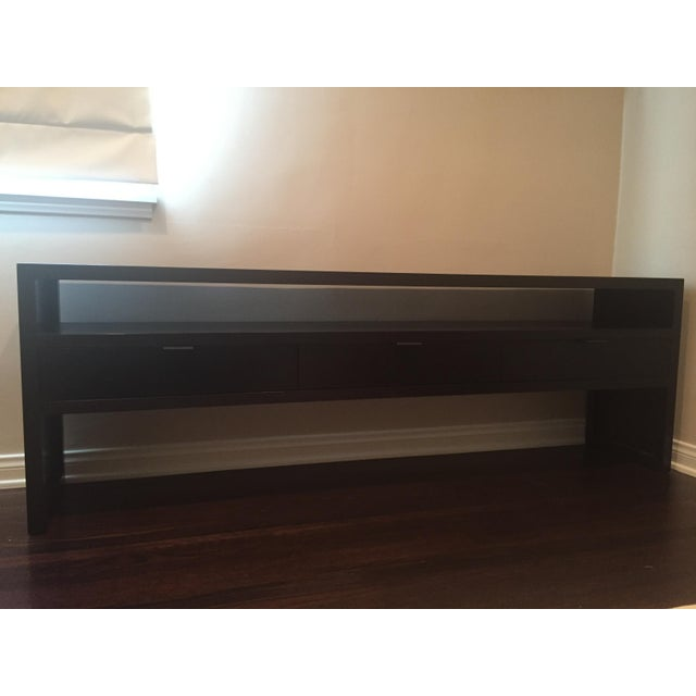 Room & Board Dark Wood Media Console - Image 2 of 5