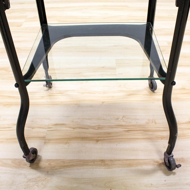 Black Industrial Bar Cart - Image 7 of 9