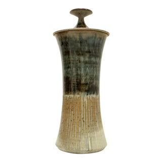 Tall Lidded Vessel by Gerry Williams For Sale