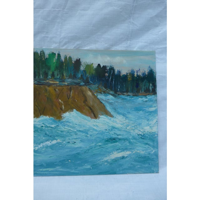MCM Oil Painting of New England Ocean - Image 4 of 6