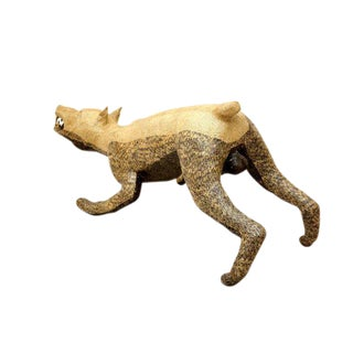 Contemporary Paper Mache Dog by Yvan Munoz For Sale