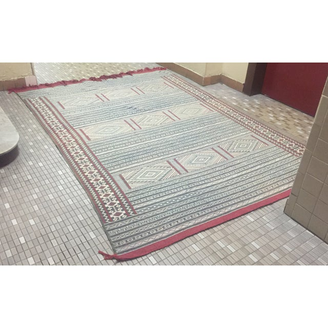 Moroccan Flatweave Kilim - 6′ × 8′2″ - Image 7 of 7