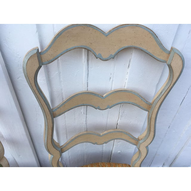 French Ladderback Chairs - A Pair For Sale - Image 4 of 8