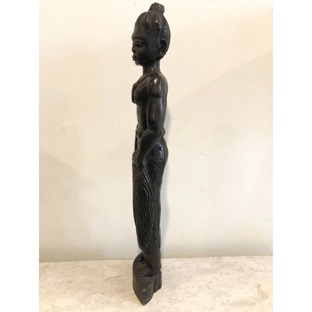 Mid 20th Century Vintage Handcarved Tribal Figure For Sale - Image 5 of 11