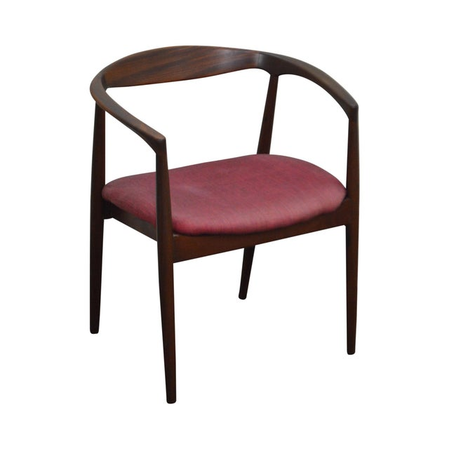 Danish Modern Vintage Curved Back Arm Chair by Raymor For Sale - Image 10 of 10