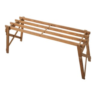 Mid-Century Modern Oak Folding Luggage Rack For Sale