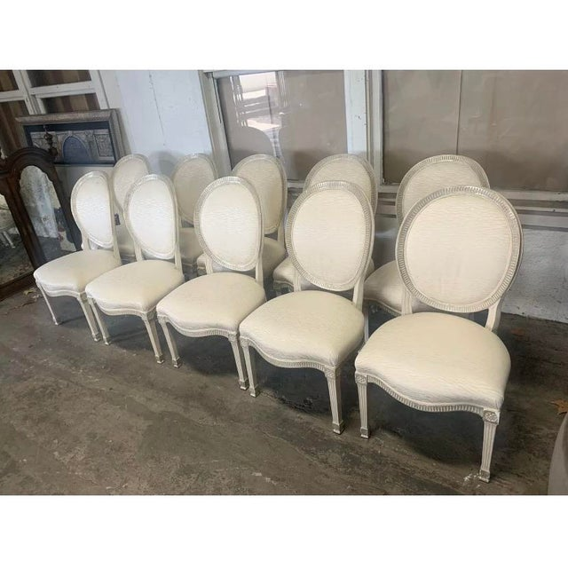Late 20th Century Sally Sirkin Lewis for J Robert Scott - 10 Dining Chairs - Set of 10 For Sale - Image 5 of 5