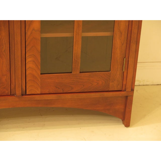 Stickley 1980s Arts & Crafts Stickley Cherry Bookcase For Sale - Image 4 of 13