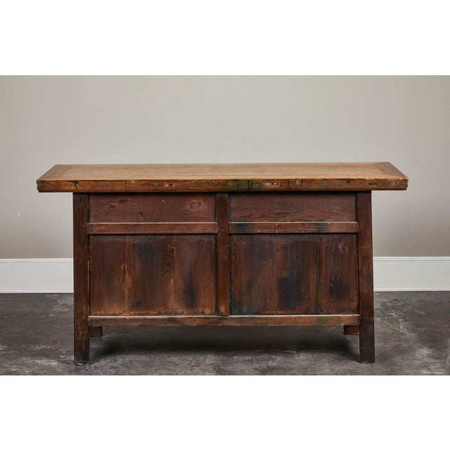 19th C. Chinese Elm Sideboard For Sale - Image 4 of 9