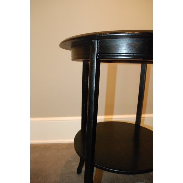 Black Round Side Table - Image 5 of 5