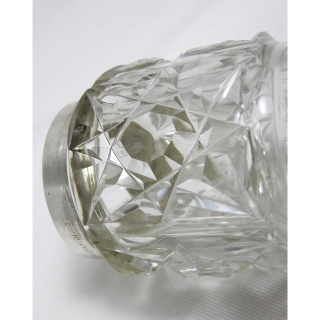 Early 20th Century Antique Wallace Silversmiths Crystal & Sterling Silver Sugar Shaker For Sale - Image 10 of 13
