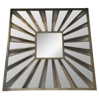 Glam Square Metal Mirror For Sale