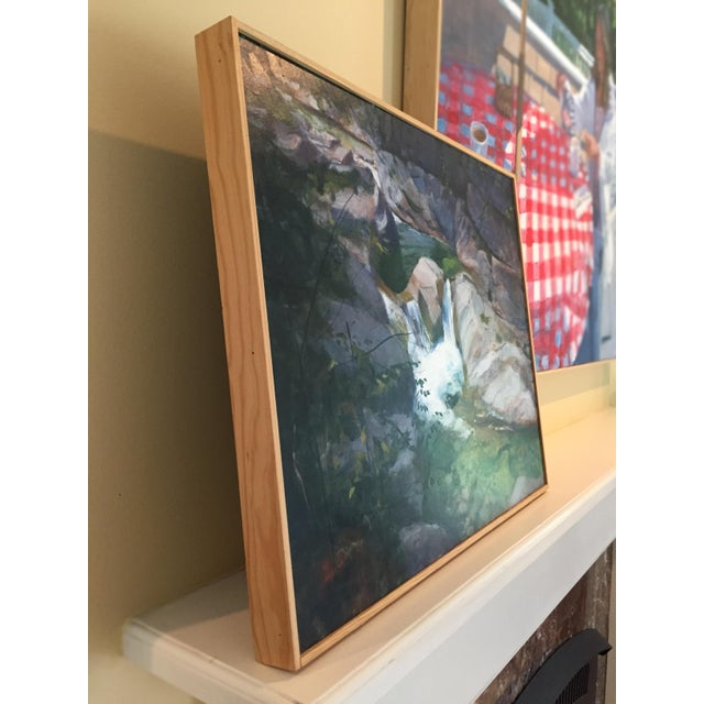 """Paint Stephen Remick """"Vermont Waterfall, Warren Falls"""" Contemporary Painting For Sale - Image 7 of 11"""