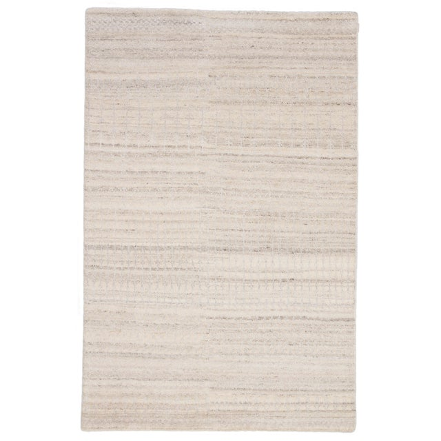Jaipur Living Hermitage Hand-Knotted Trellis Ivory & Silver Area Rug - 5′ × 8′ For Sale In Atlanta - Image 6 of 6