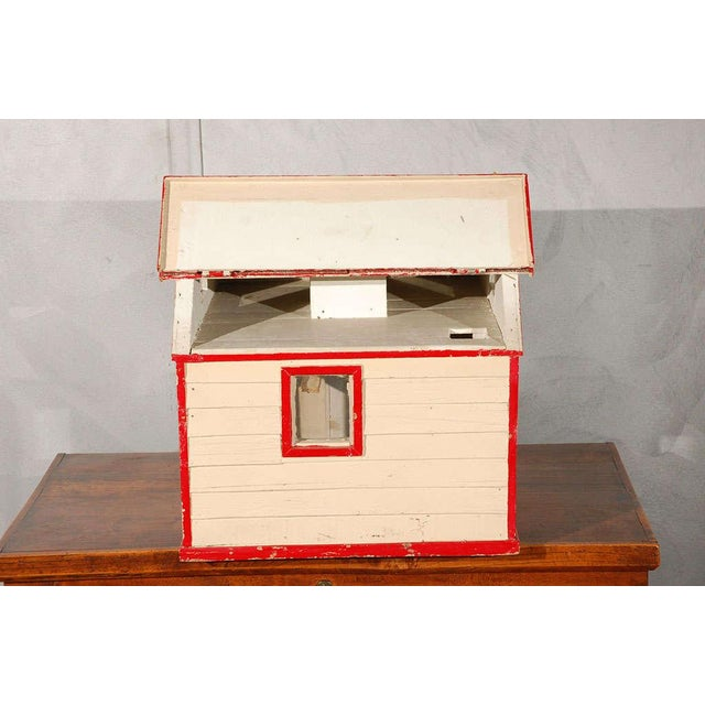 Folk Art House / Flag Stand For Sale - Image 4 of 10