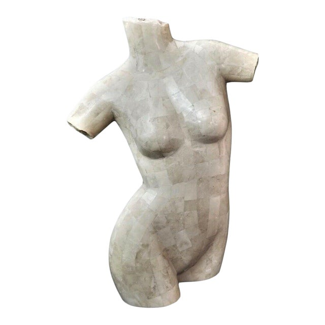 Marquis Collection Beverly Hills Tessellated Stone Female Nude Torso For Sale