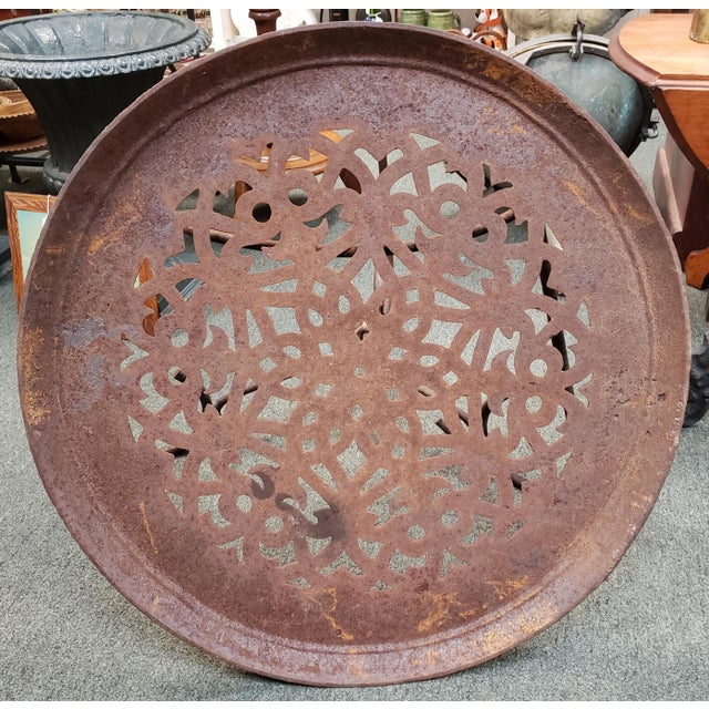 Late 19th Century American Victorian Cast Iron Floor Register Grate Top Table For Sale - Image 4 of 6